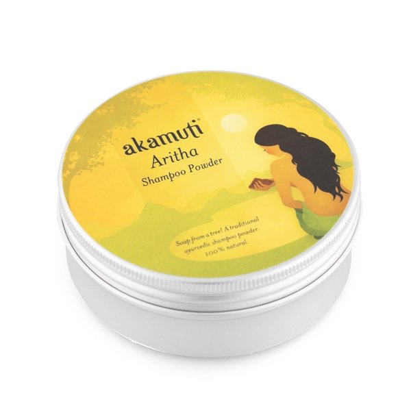 Akamuti Aritha Shampoo Powder - Soapnut Powder (also known as Reetha Powder or Soapnut) Sapindus laurifolia