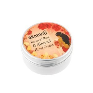 Akamuti Buttered Rose & Almond Hand Cream - This hand cream is a luxurious moisturiser designed to keep rough, dry skin away and leave you feeling smooth and kissable.
