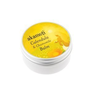 Akamuti Calendula & Chamomile Balm - A rich, caringbalm that combines the calming qualities of chamomile with therejuvenating properties of calendula flowers.