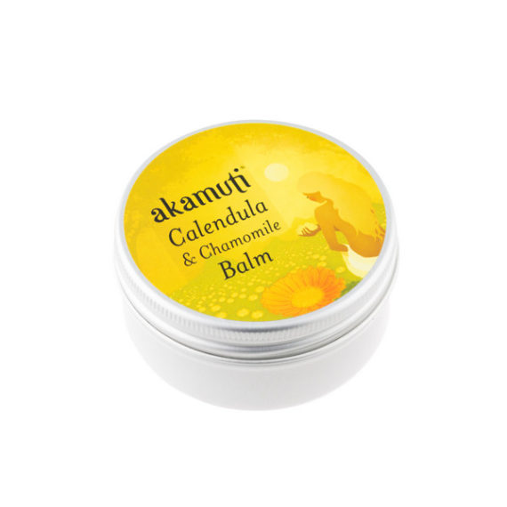 Akamuti Calendula & Chamomile Balm - A rich, caring balm that combines the calming qualities of chamomile with the rejuvenating properties of calendula flowers.