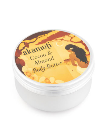 Akamuti Cocoa & Almond Body Butter - Virgin cocoa butter naturally smells wonderful, with a distinct smell of chocolate.