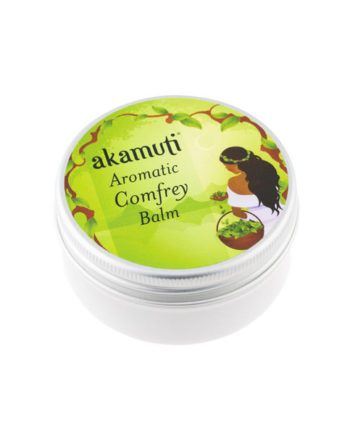 Akamuti Comfrey Balm is a wonderfully aromatic rub blending some of our favourite essential oils with nutrient rich comfrey leaf. We make our own comfrey oil, using comfrey leaf, extra virgin olive oil and sweet almond oil.