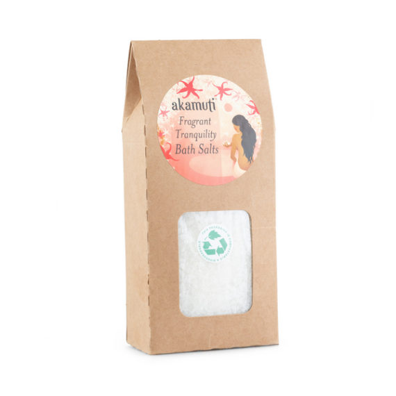 Akamuti Fragrant Tranquility Bath Salts - These soothing bath salts will help melt away the stress of everyday life.  A wonderful blend of pure sea salts and fragrant essential oils, to leave your skin feeling silky smooth.