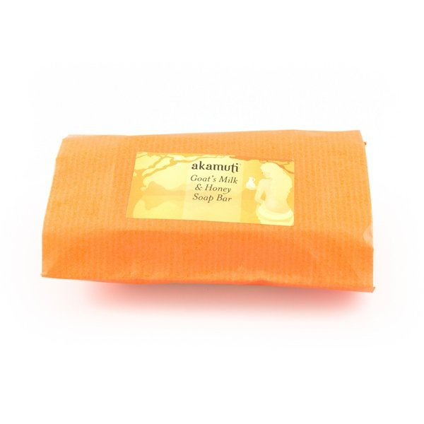 Akamuti Goat's Milk Soap with Lavender and Honey - Perfect for sensitive skin, this rich and creamy soap is made with fresh goat's milk instead of water, making it extra moisturising and nourishing.