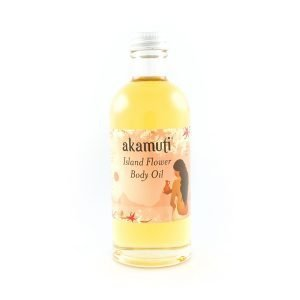 Akamuti Island Flower Body Oil - An exotic oil which will rehydrate and nourish thirsty skin while having a restorative and balancing effect on oily skin.