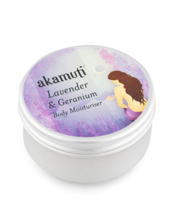 Akamuti Lavender and Geranium Body Moisturiser - This sweetly scented body moisturiser has a sweet, cheerful fragrance and is ideal for everyday moisturising and skin maintenance.