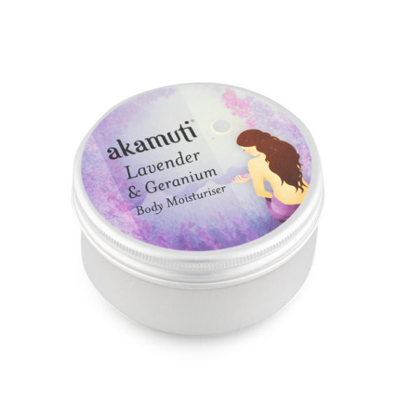 Akamuti Lavender and Geranium Body Moisturiser - This sweetly scented body moisturiser has a sweet,cheerful fragrance andis ideal for everyday moisturising and skin maintenance.