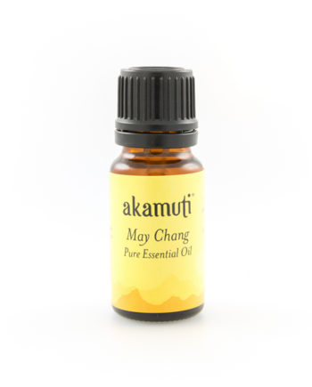 Akamuti May Chang Essential Oil - May Chang oil is derived from the fruit of a small, evergreen tropical tree. It has a fresh, fruity fragrance and an uplifting aroma that is like citrus, mainly orange and lemon with a hint of spice.