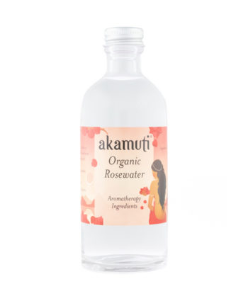 Akamuti Organic Rosewater - Refreshing and conditioning, rose is gently toning, nourishing, cleansing and slightly astringent.
