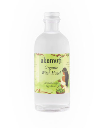 Akamuti Organic Witch Hazel - Pure distilled organic witch hazel is indispensable for its cooling and astringent action.