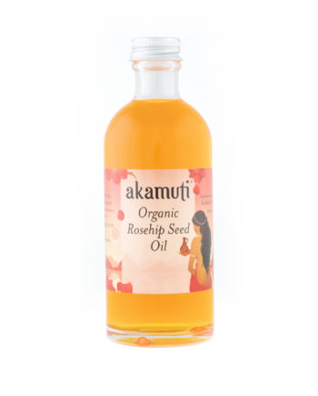 Akamuti Rosehip Seed Organic - A beautiful orange red, this precious rosehip seed oil offers a vitamin rich moisturiser laden with essential fatty acids.