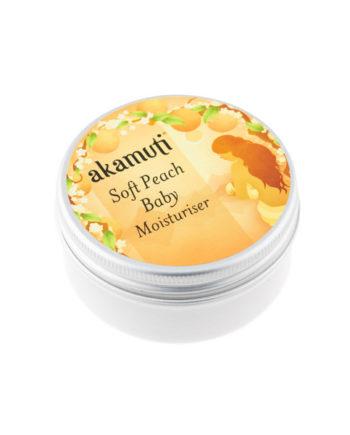 Akamuti Soft Peach Baby Moisturiser - A beautiful, silky baby moisturiser, with softening peach oil and comforting chamomile.