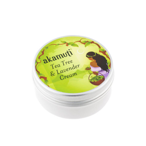 Akamuti Tea Tree & Lavender Cream - Tea tree andlavender are extremely useful and versatile essential oils and they join forces in this cream.