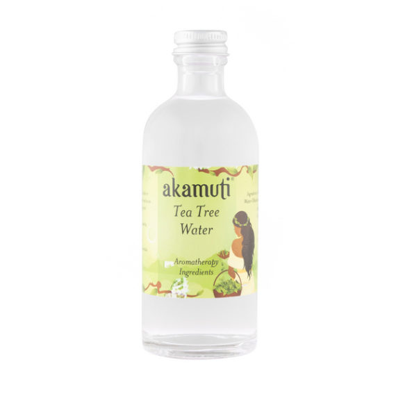 Akamuti Tea Tree Water - Alovely skin wash with a fruity aroma. Especially helpful on oily skin types it makes a perfect tonic forproblemskin.