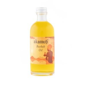 Akamuti Baobab Oil - This special oil is coldpressed from the seeds of the baobab fruit, & community traded with African villagers to provide them with a sustainable income.