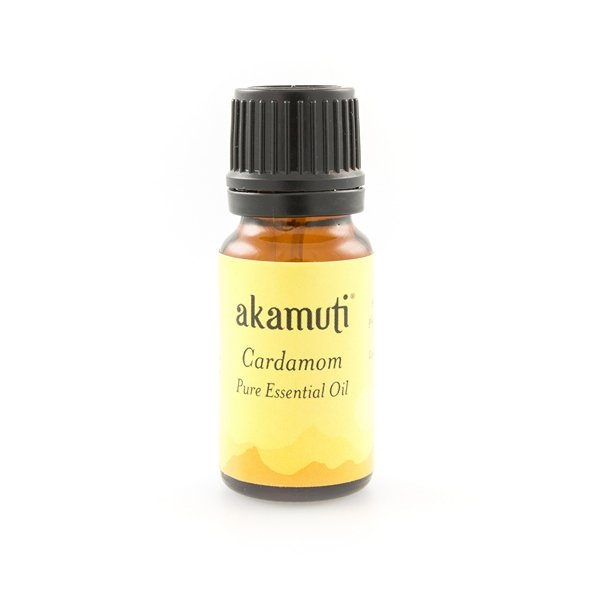 Akamuti Cardamom Essential Oil - Cardamom essential oil is a wonderfully warm and aromatic oil with a sweet spicy fragrance.