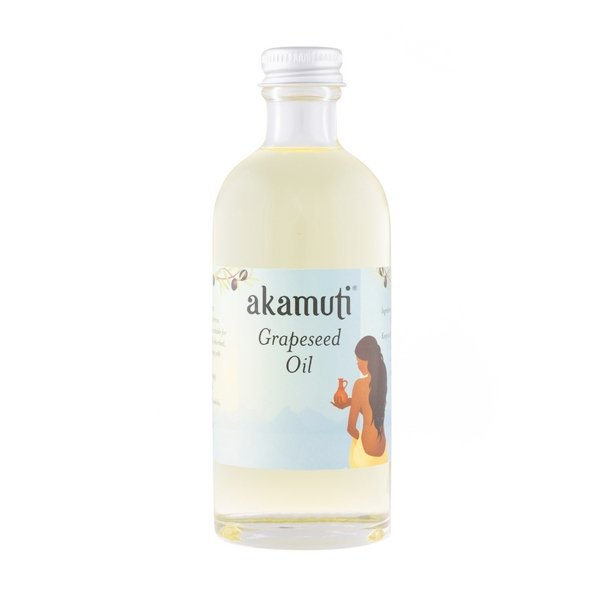 Akamuti Grapeseed Oil - Super light & easily absorbed, this oilisideal for massage. It is excellent for moisturising without leaving any heavy residue.