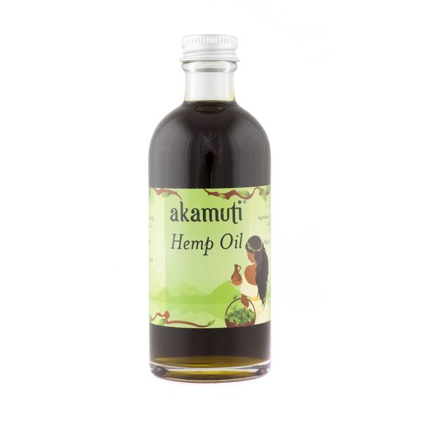 Akamuti Hemp Oil - A rich, green oil possessing a high percentage of omega oils & fatty acids, essential for maintaining healthy skin.
