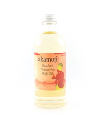 Akamuti Kalahari Watermelon Body Oil 100ml - A tropical fruit fusion, this mouthwatering blend of cold-pressed kalahari watermelon oil is enhanced with zesty may chang andlime for a stimulating skin tonic.
