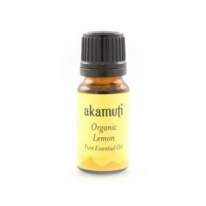 Akamuti Lemon Organic Essential Oil - Light and citrusy, this is an uplifting and refreshing oil with gentle, caring qualities,encouraging the feelings of well-being and increasing energy.