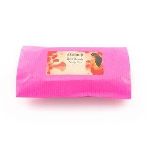 Akamuti Rose Beauty Soap Bar - A beautifully fragrant soap bar made with lots of wonderful ingredients including creamy shea butter and coconut oil.
