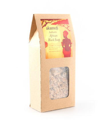 Akamuti African Black Soap Crumble - This beautiful, authentic African Black Soap is traditionally handcrafted and fairly traded with women's co operatives in Ghana, West Africa.