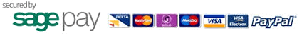 We accept all major credit cards and process payments using Sagepay or Paypal