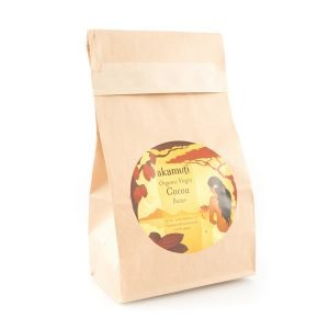 Akamuti Organic Cocoa Butter - Organic virgin cocoa butter smells so good that we'd like to share it with you as it comes from the cocoa bean.