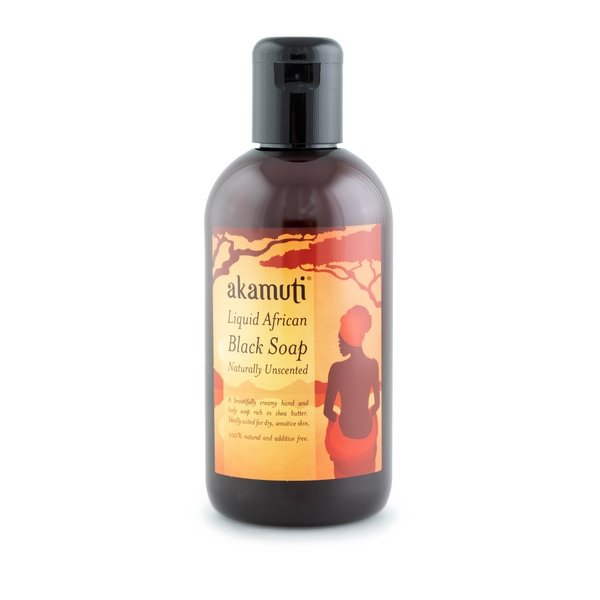 Akamuti Liquid African Black Soap Unscented - Our Liquid African Black Soap is a fantastic soap for the face, hands and body. Itlooks like melted chocolate!