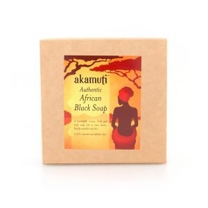 Akamuti African Black Soap - Our African Black Soap has a very mild scent and a wonderful creamy lather, which leaves your skin feeling moisturised and soft.