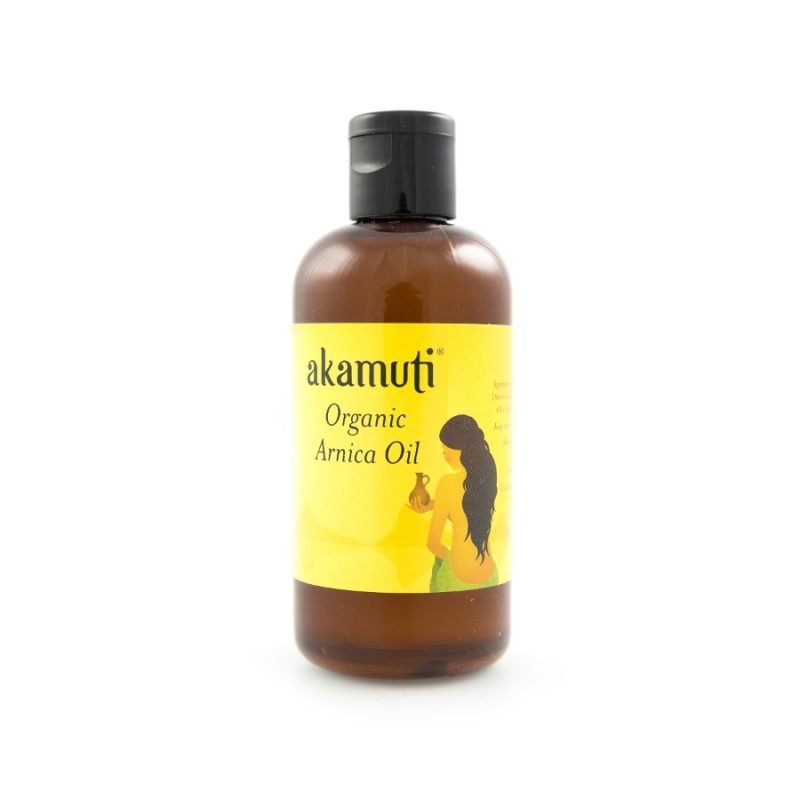 Akamuti Organic Arnica Oil - Arnica is a fantastic massage oil and is ideal for before and after sports.