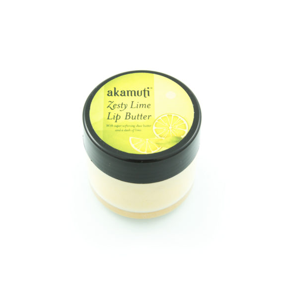 Akamuti Zesty Lime Lip Butter - Made with generous amounts of super softening organic shea butter, organic cocoa butter and a dash of deliciously zesty lime.