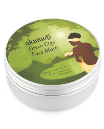 Akamuti Green Clay Face Mask - Sundried Green Clay is an extraordinary product with anti-ageing, cleansing and energising properties. A skin tonic, green clay is restorative and promotes well being.