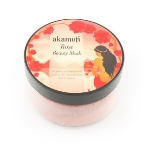 Akamuti Rose Beauty Face Mask - a gorgeous, softening treatment to cleanse and freshen the skin.  Precious rose is a well known skin elixir, promoting a healthy complexion and skin tone.